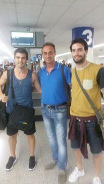 I due nuovi arrivati direttamente dalla Spagna. Prelevati all'aeroporto di Roma dal Dg, Biagio Calvano.