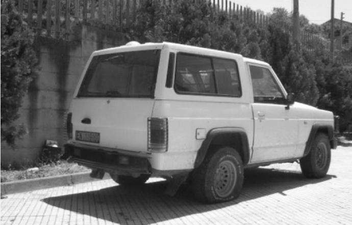 La jeep di Giuseppe Bruno, scomparso a Villarosa nel 2004