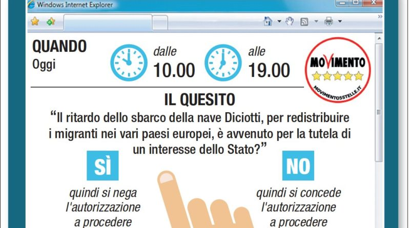 Processo a Salvini, il voto del M5s con la piattaforma Rousseau
