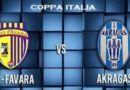 "COPPA ITALIA – ""Pro Favara – Akragas"" 1-1 biancoazzurri avanti [HIGHTLIGHTS]"