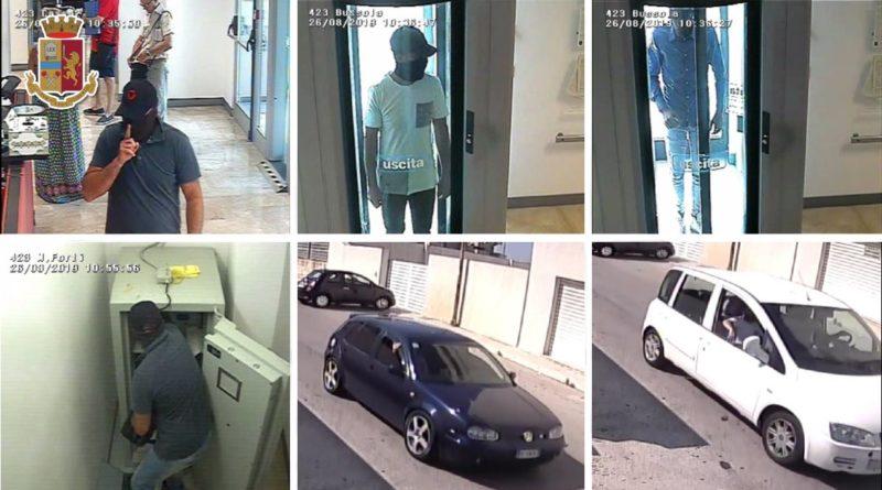 TRAPANI – Rapina alla Credem, arrestati 3 palermitani in trasferta [VIDEO]