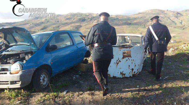 RACALMUTO – Carcasse di auto abbandonate: sequestrata area,  denunciato un 43enne