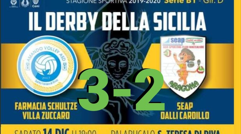 VOLLEY – PalaBucalo ancora stregato per Aragona: vince S.Teresa al tie-break [FOTO]