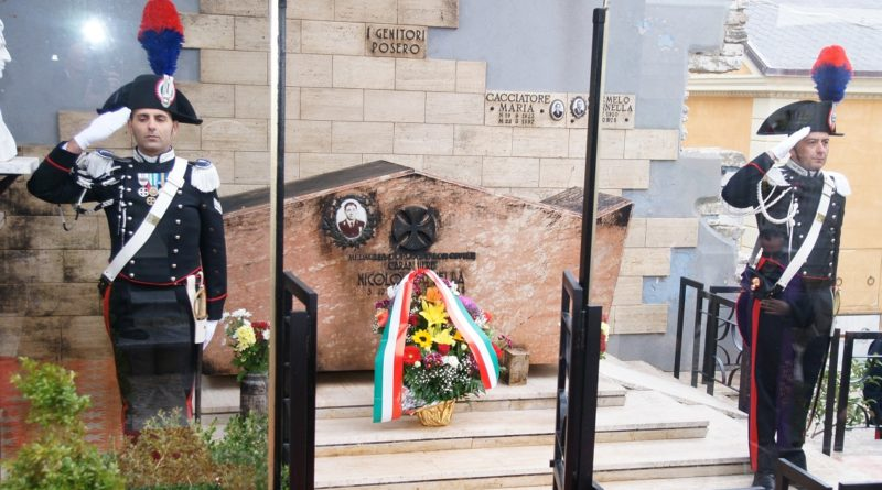 CASTELTERMINI – 52° anniversario in onore del Carabiniere ausiliario Nicolò Cannella, medaglia d'oro al valor civile