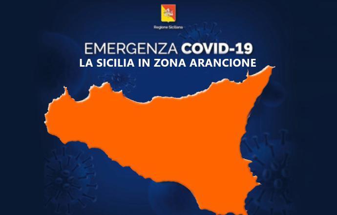 COVID – La Sicilia resta arancione