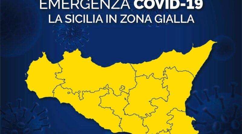 COVID – La Sicilia da lunedi in zona gialla