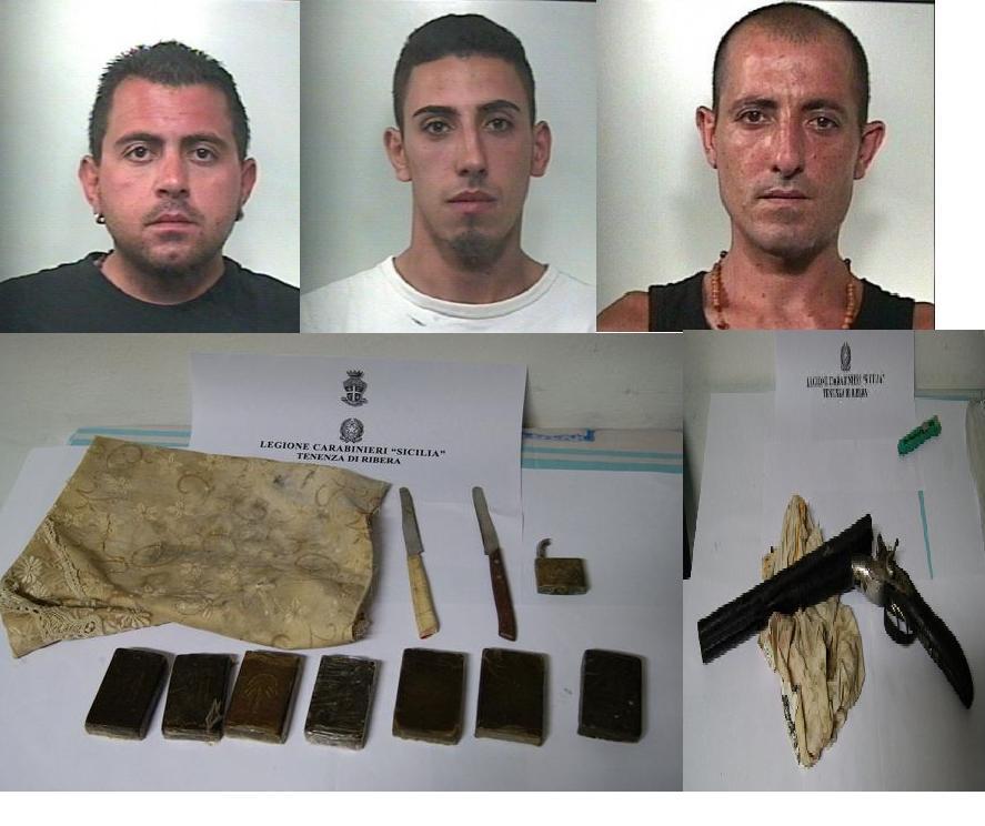 Ribera tre arresti per droga e armi tele radio studio 98 for Arresti a poggiomarino per droga